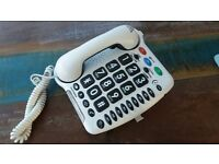 Telephone for the hard of hearing - big buttons and amplified volume