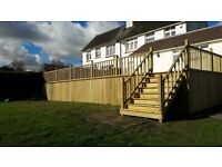 Timber in the Garden, decking, pergolas, picket fencing, railway sleeper beds and walls