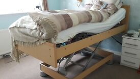 Hospital bed by Bakare. Ideal for home use