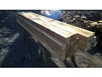 wooden timber posts 75mm x 75mm