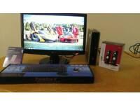 SSD Fast HP i5 Quad 8300 Ultra Slim Home & Business PC Desktop Computer & LG 22inch