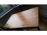 Wooden dinning table + 2 chairs