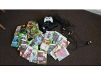 Xbox 360 Slim with 2 wireless controllers and over 30 games NEED GONE ASAP Very cheap
