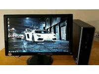 slim pc with LED monitor
