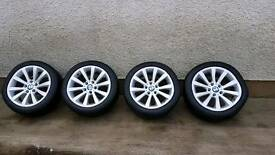 """2009 BMW 17"""" ALLOYS WITH 4 EXCELLENT TYRES"""