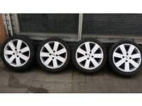 """16""""Inch Ford fiesta Alloy wheels With Tyres All Tyres are"""