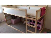 Ikea Kura bed, mattress, tent