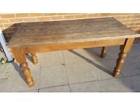 Farmhouse rustic table 2ftx5ft