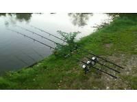 Carp Fishing 3 rod setup