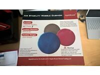 Stability Wobble Cushion, Blue, 35cm/14in Diameter, Balance Disc, Pump Included