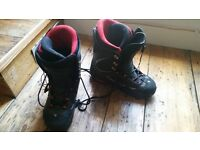 Size 10 flow binding snowboard boots
