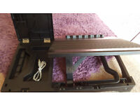 Adjustable laptop Stand with USB ports, lamp & storage space
