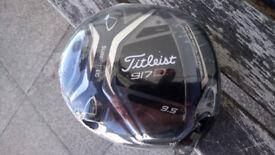 TITLEIST 917D2 9.5 DEGREE DRIVER. DIAMANA REGULAR SHAFT. BRAND NEW