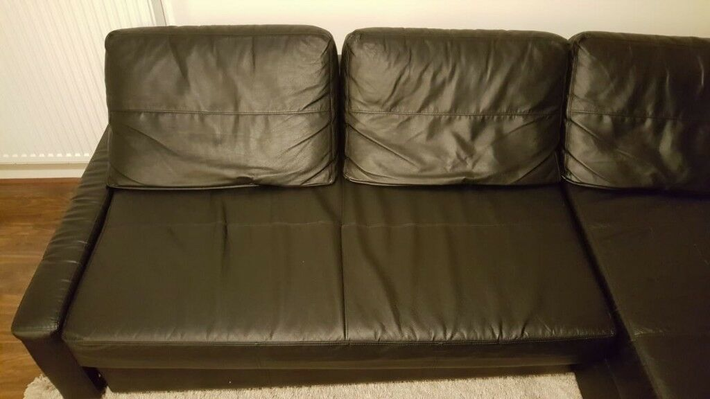 Awesome Ikea Friheten Corner Sofa Bed With Storage In Bomstad Black Faux Leather In Greenock Inverclyde Gumtree Onthecornerstone Fun Painted Chair Ideas Images Onthecornerstoneorg