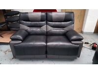 ScS Venus Black/Grey 2 Seater Manual Recliner Sofa Can Deliver View collect Kirkby NG177