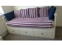 Ikea - HEMNES Day-bed w 3 drawers/2 mattresses - £220 great condition (£410 new)