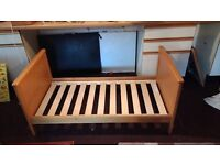 """Mamas and Papas """"Hampton"""" Crib/Bed, chest of drawers and wall unit"""