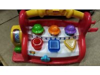 FISHER PRICE LAUGH LEARN MUSICAL TOOL BOX HAMMER ABC