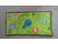 baby toys - sensory mat with animal sounds, stacking toys, soft book, xylo - £2 each