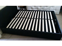 King Size Bed Frame with Lift-up Storage - Only 1 Year Old