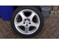 "Genuine 17"" OEM Mercedes E Class (also fits S Class) alloy wheels and tyres"