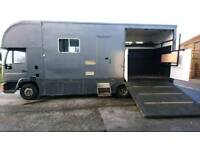 P reg MAN horsebox horse lorry