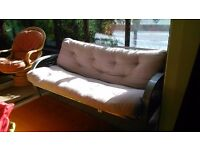 Futon Sofa Bed, Double size with Sturdy Metal frame & comfortable matress
