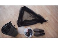 Fishing bait tackle net and bivvy shoes slippers