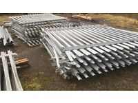 Large selection of steel fencing for sale