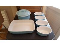 Duck Egg Oven Dishes x 6