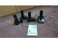 Panasonic Telephones (Quad) with Answer Machine