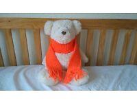 Kids Scarf Bright Orange Girls or Boys Knitted Woollen Xmas Childrens Christmas (free postage)