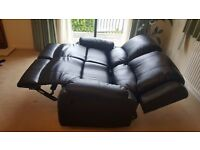 Leather Sofa Recliner 2 Seats