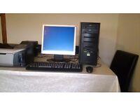 AMD Sempron Desktop pc Computer Package (Monitor,Printer,Scanner, Keyboard etc)