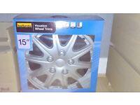 "15"" halfords wheel trims. Brand new."