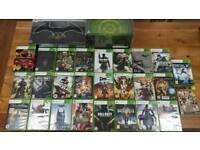 Xbox 360 Elite and 28 Games