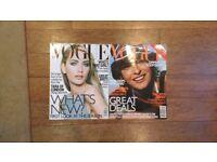 Vintage 1997 Vogue magazines