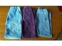 Girls jeans and trousers aged 11/12 years