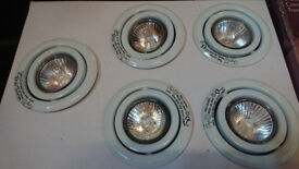 5 Dimmable Tilting Halogen Downlights