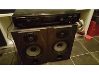 Marantz CD and Soundcraft studio monitors