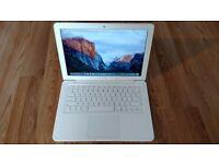 Macbook 2011 White Unibody Apple Mac laptop 250gb SSD hard drive on latest EL Capitain OS