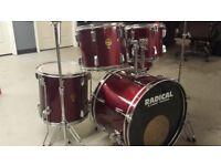 5 Piece Cannon Adder drum kit.