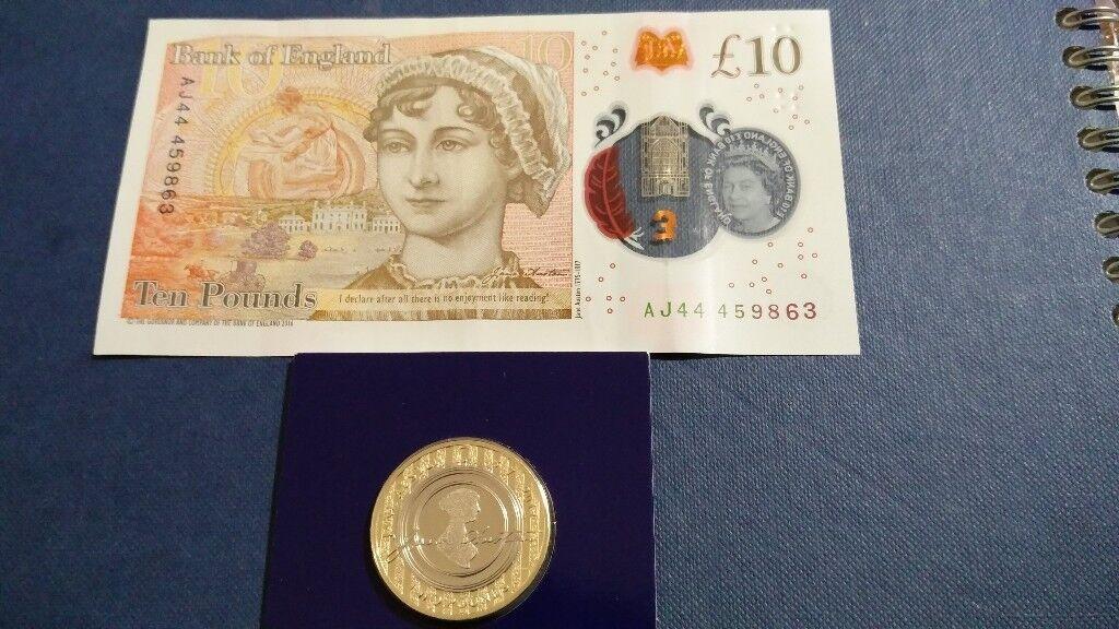 £10 BANKNOTE WITH ANGEL NUMBER 444 PRIDE & PREJUDICE SUPER RARE AND Unique  + £2 JANE AUSTEN BU COIN | in Winnersh, Berkshire | Gumtree