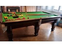 Snooker Table - 8ft x 4ft - Slate bed - Antique