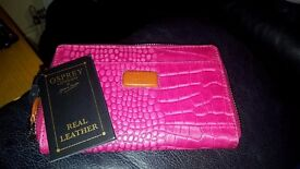 Osprey London designer real leather purse