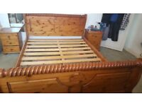 King Size Wooden Bed Frame - Excellent Condition!