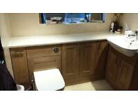 Bathroom cabinet suite sink & WC