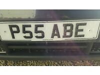 'P55 ABE' private number plate