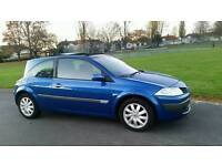 DIESEL + GLASS ROOF + £30 ROAD TAX + RENAULT MEGANE SPORT HATCHBACK 1461cc + 1 YEAR MOT + AIRCON