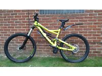 Electric full suspension Specialized status down hill mountain bike